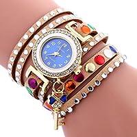Womens Watch,Howstar Key Pendant Leather Bracelet Analog Stylish Womens Quartz Watches
