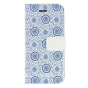Patrón de flor de la vendimia de la PU de la caja de cuerpo completo para el iPhone 5/5S