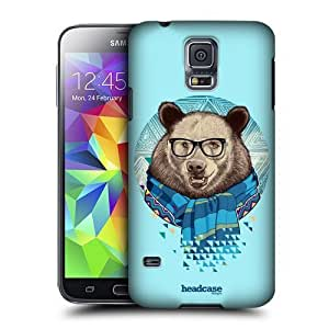 AIYAYA Samsung Case Designs Stylish Bear Fauna Hipsters Protective Snap-on Hard Back Case Cover for Samsung Galaxy S5