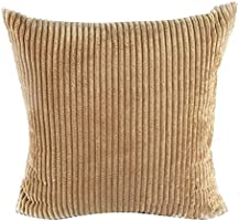Square/Rectangle Solid Pinkycolor Printed Cushion Cover ChezMax Corduroy Striped Throw Pillow Case Sham Slipover Pillowslip Pillowcase For Teen Boy Girl Kid Children Bedroom
