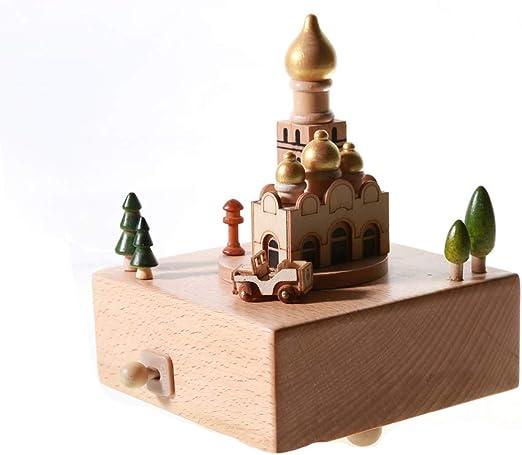 Feliz Navidad Caja de música, Caja de música de madera Árbol de ...