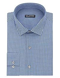 Kenneth Cole New York Mens Dress Shirt Regular Fit Check Dress Shirt