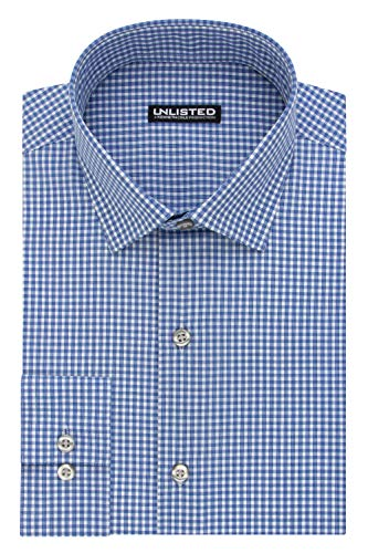 (Kenneth Cole Unlisted Men's Slim Fit Check Spread Collar Dress)