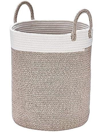 Coton Panier de rangement Panière à linge pliables avec Poignée en corde  Sac lavable Naturelle Grand 06072f096019