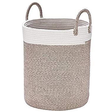 Storage Baskets Woven Basket, 13''x 15  Cotton Rope Decorative Baskets for Towel, Laundry, Magzine, Gift Basket