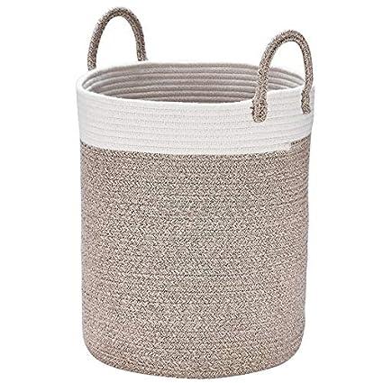 Cestos de lavadora para ropa sucia tejidas en algodón, grandes H38 x Ø32cm, Toallas