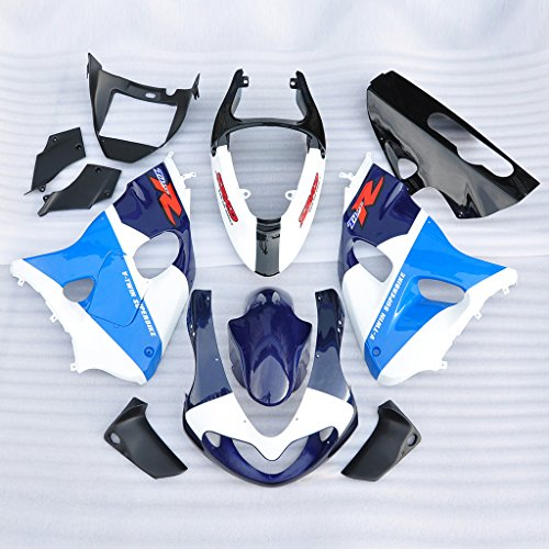 Wotefusi Brand New Motorcycle ABS Plastic Painted Compression Mold Bodywork Fairing Kit Set For Suzuki TL1000R 1998 1999 2000 2001 2002 Blue White