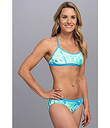 Amazon.com : Nike Women's Adjustable Sport Top Two-Piece Swimsuit Blue  Lagoon 28 : Sports & Outdoors