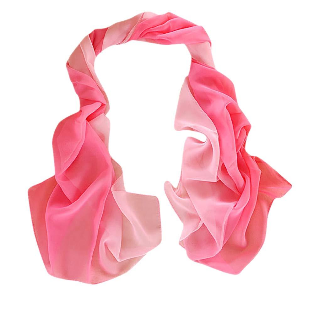 iYBUIA 2018 New Women Gradient Printing Scarf Fashion Female Beach Multi-Purpose Shawl Scarf (One Size, E)