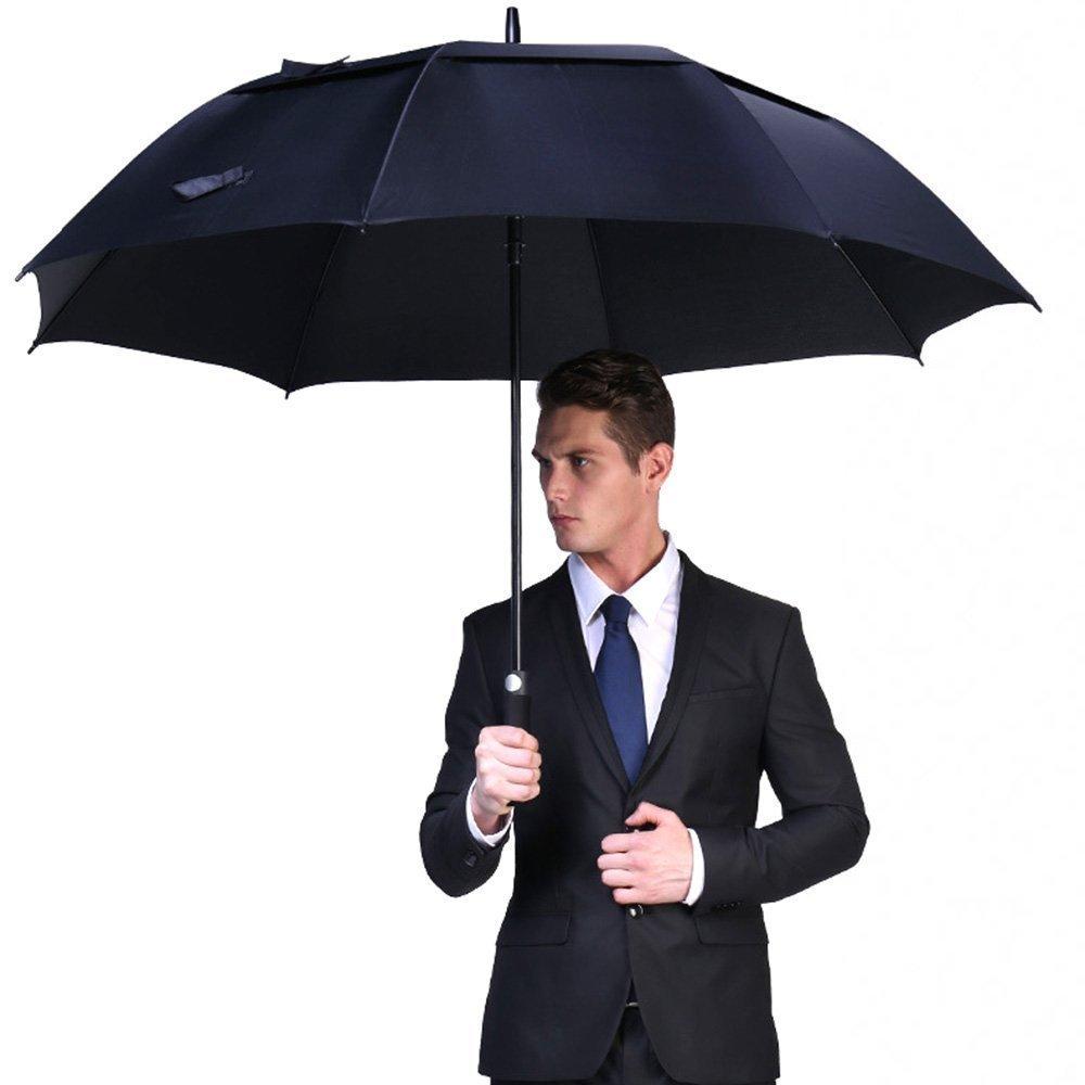 Vilapur apertura automática paraguas de Golf (ft-03 - 001), extra grandes grande doble toldo con ventilación resistente al viento resistente al agua stick ...