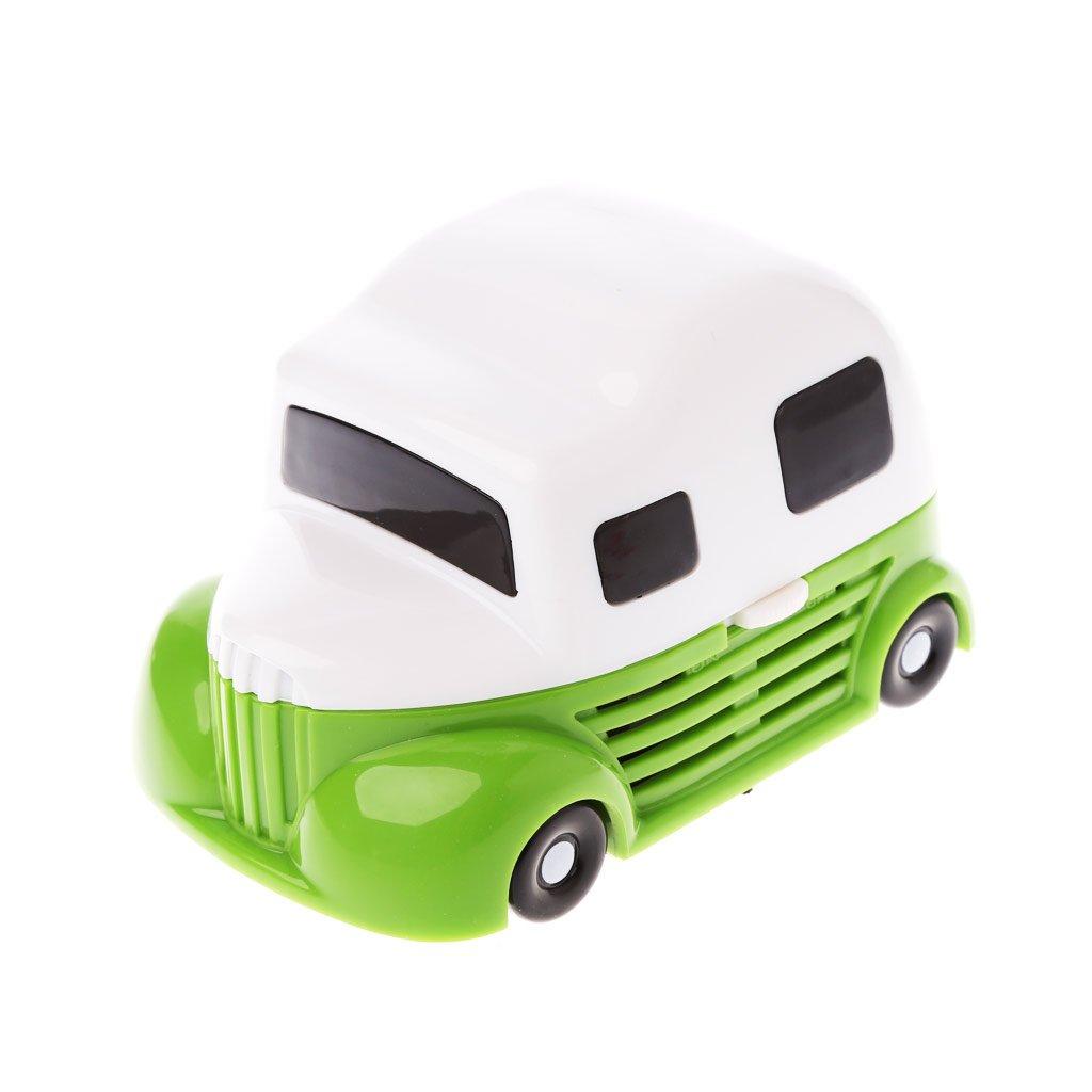 GREEN/&RARE Durable Cartoon Car Mini Desktop Vacuum Portable Dust Cleaner for Home Office