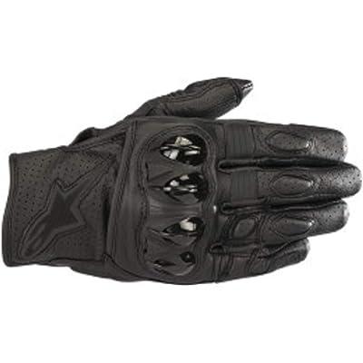 Alpinestars Men's Celer v2 Leather Motorcycle Short-Cuff Glove, Black/Black, Large: Sports & Outdoors