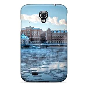 For EOVE Galaxy Protective Case, High Quality For Galaxy S4 City Bridge Over Frozen River Skin Case Cover