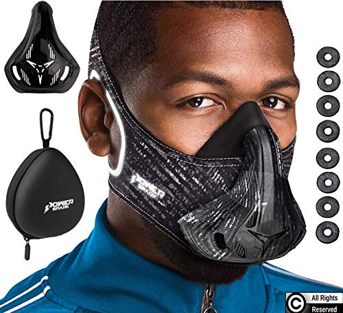 Training Mask Workout Resistance Breathing Trainer - The Ultimate Cardio Exercise Boost Your Endurance in Fitness Gym & Sports - Reflective Running Gear for Men Women [16 Levels] Bonus Case + Cover