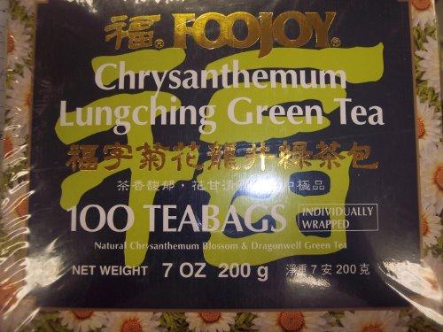 Foojoy China Green Tea (Foojoy Chrysanthemum Lungching Green Tea 100 Tea Bags)