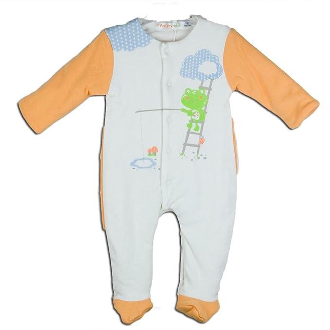 BABY-BOL - Pijama Bebe Acolchado bebé-niños Color: Naranja Talla: 1