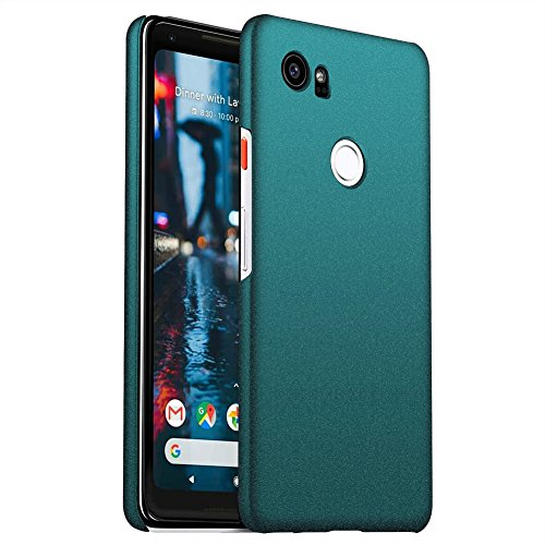 ORNARTO Pixel 2 XL Case for Google [Basic Series] Thin Fit Shell Premium Hard Plastic Matte Finish Non Slip Full Protective Anti-Scratch Cover Cases for Google Pixel 2 XL(2017) Frosted Army Green