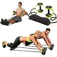 Revoflex MultiFlex Tekerlekli Egzersiz Spor Aleti Mekik Sehpası - Ev Hızlı Kondisyon Şınav Mekik Kalori Yakma Egzersiz Cihazı