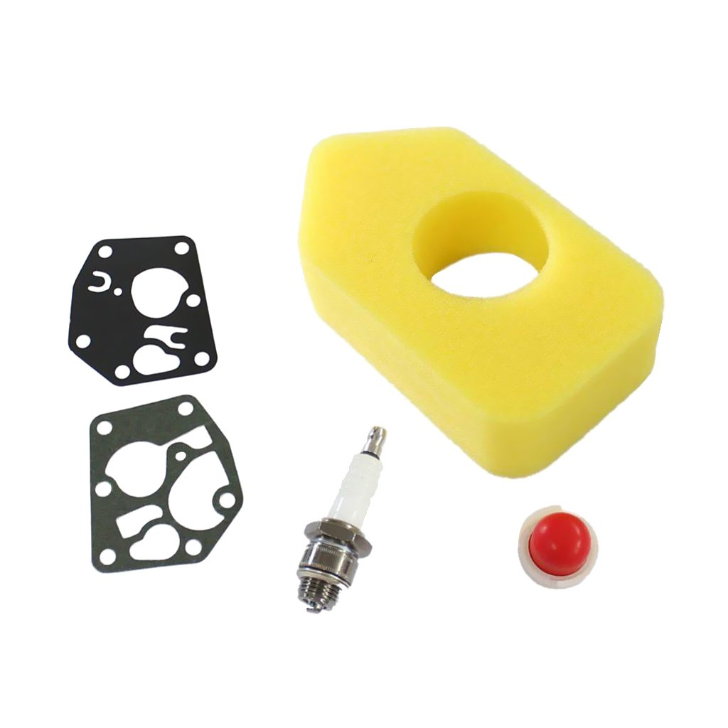 Gazechimp Kit Filtre à Air Bougie d'Allumage Joint Diaphragme Carburateur pour Briggs & Stratton 795083 698369