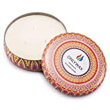 Onlywax Scented Candles Soy Wax 3 Wick Tin 70 Hour Burn,Essential Oils–for Stress Relief and Relaxation,Outdoor and Indoor