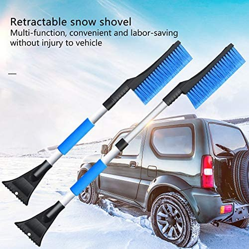 ouying1418 Multifunction Car Snow Shovel Ice-Scraper Telescoping Snow Brush Shovel