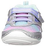 Stride Rite Girls' SM Adrian Sneaker, Silver/Multi, 3.5 W US Toddler
