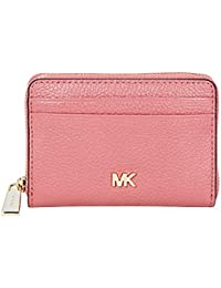 Small Pebbled Leather Wallet- Rose