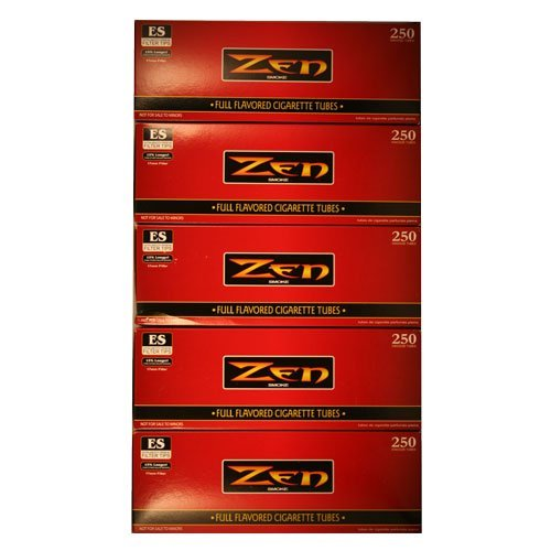 Full Pack Carton (Zen Full Flavor King Cigarette Tubes 250ct Carton 5 Pack by Zen)