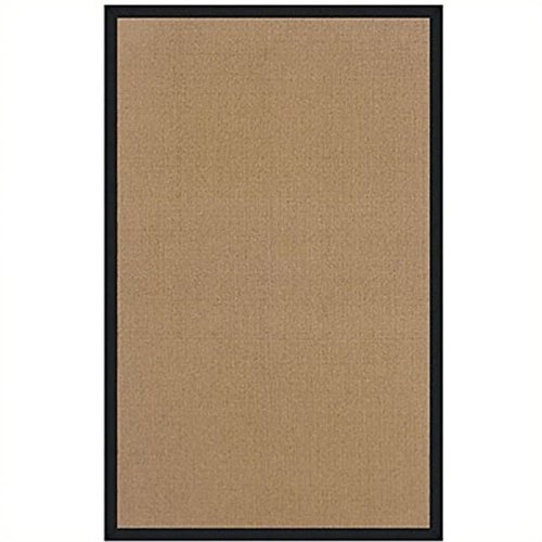 Hawthorne Collections 5' x 8' Hand Tufted Cotton Rug in Cork and Black -