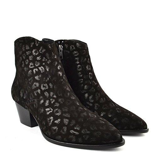 Leopard Black Ash Bis Heidi Footwear Ankle Black Print Boot RxqTnSpx