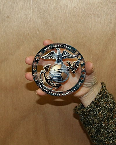 Emblem Usmc (USMC ROUND EMBLEM MAGNET 4