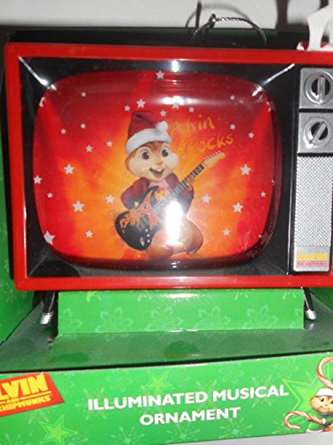 Alvin and the Chipmunks TV Christmas Ornament Plays Music