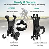 Bovon Bike Phone Mount, Silicone Bicycle Holder Motorcycle Handlebar Mount, Universal Cycling Phone Holder Fits iPhone X, 8/8 Plus, 7, 6/6s Plus, Galaxy S9/S9 Plus, S8/S8 Plus, 360° Rotation (Black)