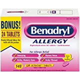 Benadryl Allergy 25mg Ultratab 148 count