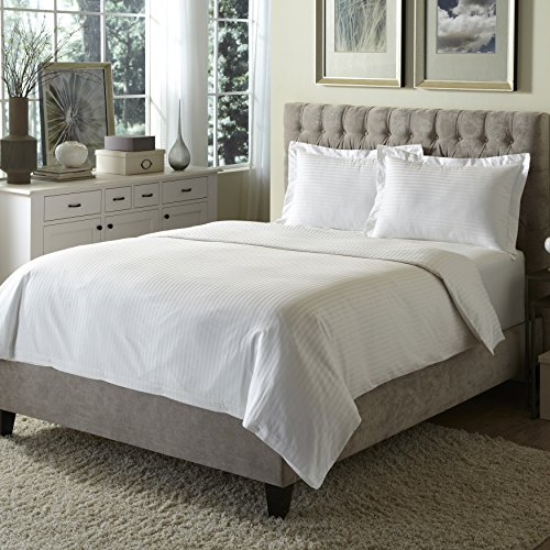 Hotel Style Egyptian Tradition European Hotel 100% Cotton Damask Duvet Cover Set, Hypoallergenic, Machine Washable & Pre-Shrunk, Includes Comforter Cover & Pillow sham(s), Twin