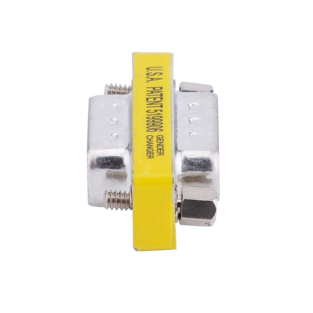 Asiproper 2 st/ücke 15pin VGA Stecker auf Stecker Adapter Gender Changer Koppler Extender Konverter Anschl/üsse