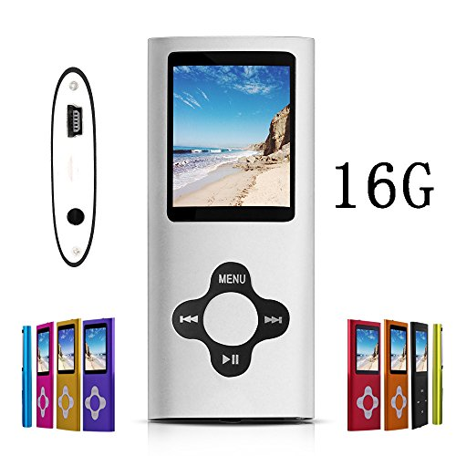 G.G.Martinsen Silver Stylish 16GB MP3/MP4 Player with FM