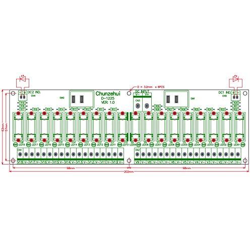 Electronics-Salon 18 Channels 12V/24V 20A Power Distribution Fuse Module, For CCTV Security Camera ect DIY. by Electronics-Salon (Image #2)