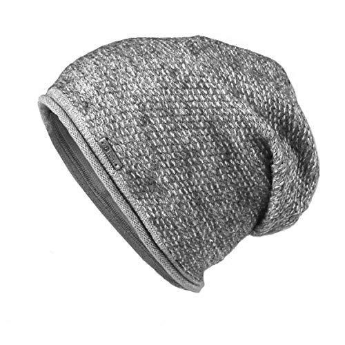 Glamexx24 - Gorro de Punto - para Hombre gris