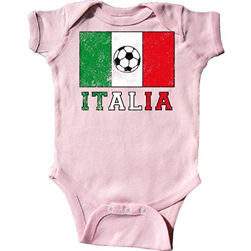 inktastic - Italian Soccer Infant Creeper 6 Months Pink 2e0d2 (Flag Italian Shirt Golf)