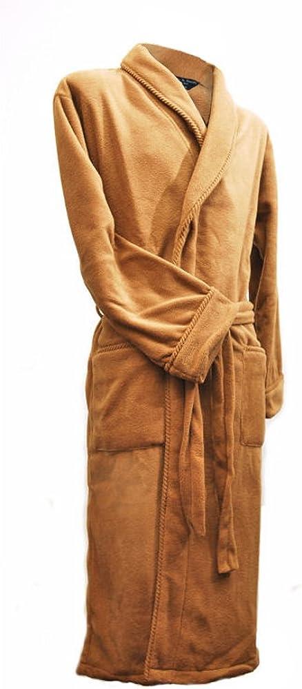 Lloyd Attree /& Smith Camel Robe de Chambre en Maille Polaire Homme