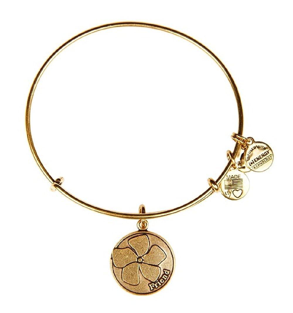 5419e4a2924730 Amazon.com: Alex and Ani Friend Charm Bangle Rafaelian Gold Finish Bracelet,  A12EB51RG: Jewelry