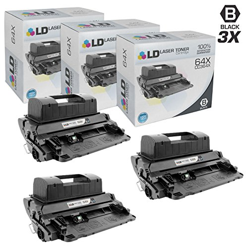(LD Compatible Toner Cartridge Replacement for HP 64X CC364X High Yield (Black, 3-Pack))