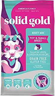 Solid Gold - Mighty Mini with Sensitive Stomach Probiotic Support - Grain-Free Holistic Dry Dog Food for Toy A
