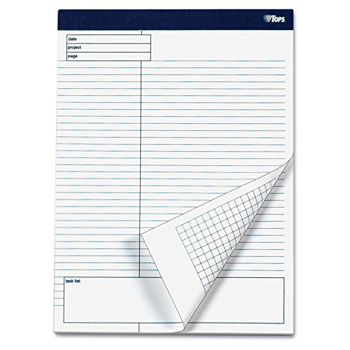 (TOPS 77102 Docket Gold Planning Pad, Legal/Wide, 8 1/2 x 11 3/4, White, 40 Sheets, 4/Pack)