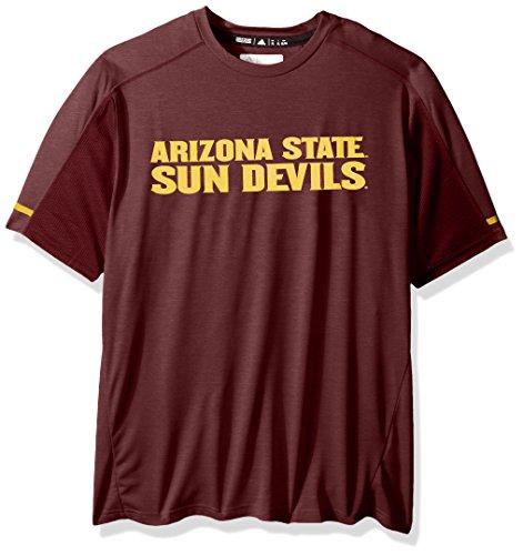 adidas NCAA Arizona State Sun Devils Adult Men NCAA Sideline Performance Tee, Large, Maroon