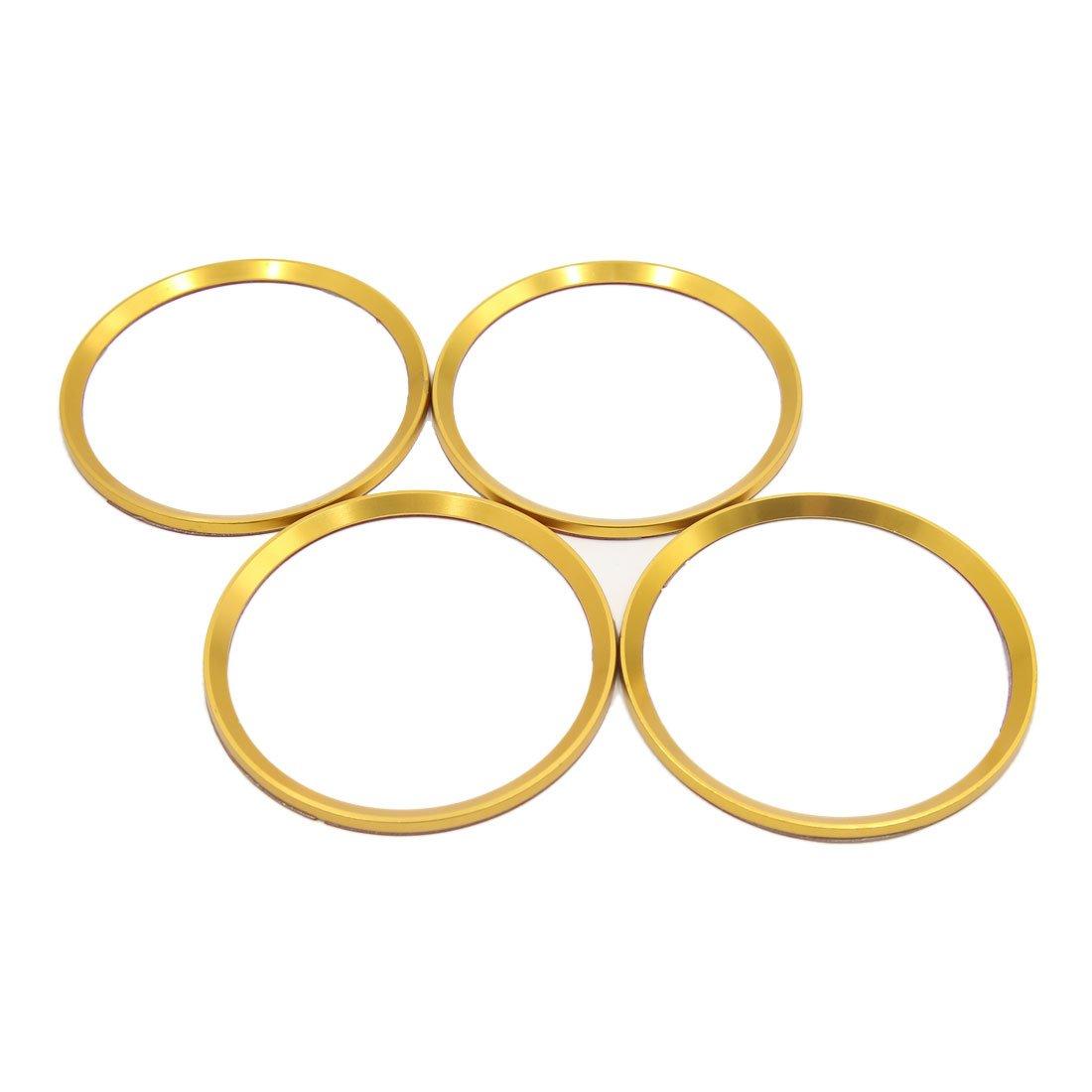 uxcell 4pcs Gold Tone Car Wheel Center Hub Emblem Decorative Trim Ring Circle for BMW