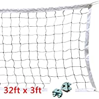 Boshen 32x3FT Standard Volleyball Net with Steel Cable Replacement Netting System