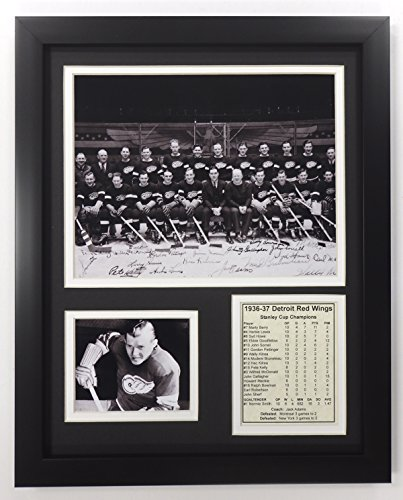 "Legends Never Die NHL Detroit Red Wings 1937 Stanley Cup Champions Double Matted Photo Frame, 12"" x 15"""