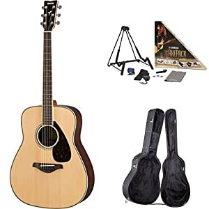 yamaha fg830 acoustic guitar natural with yamaha guitar case and accessories pack. Black Bedroom Furniture Sets. Home Design Ideas